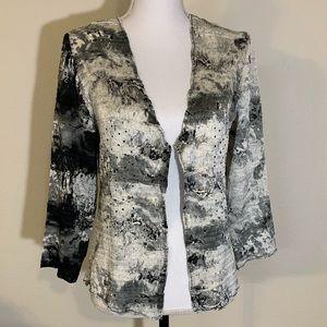 Alberto Makali open cardigan crushed fabric size L
